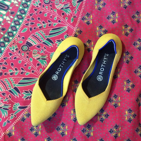 Rothy's Shoes - Rothy's Yellow Flats (the best!) Marigold Pointed